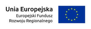 Flaga i napisy: Unia Europejska. Europejski Fundusz Rozwoju Regionalnego