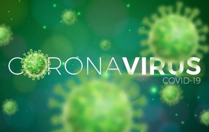 Grafika przedstawiająca wizualizację wirusa SARS-CoV-2