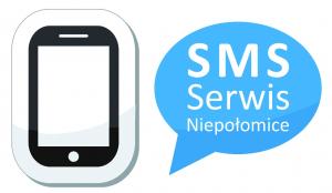 Grafika z napisem SMS Serwis Niepołomice