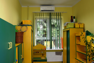 Nowy klimatyzator w sali Biedronek