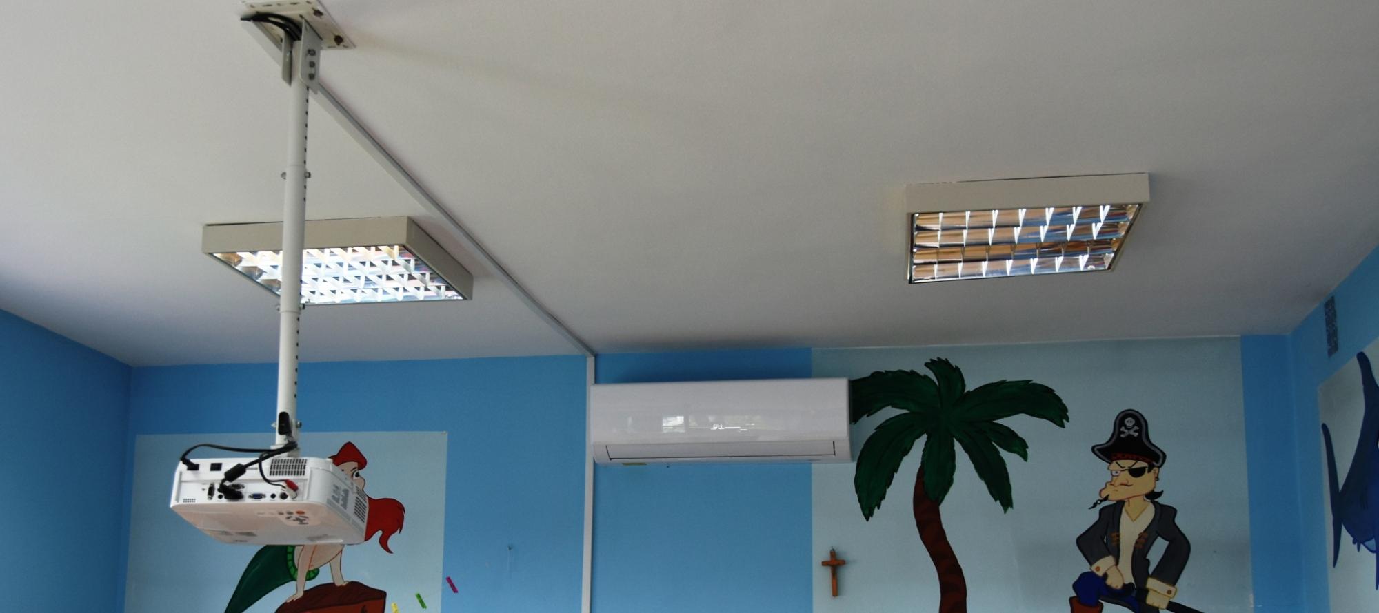Nowy klimatyzator w sali Żabek