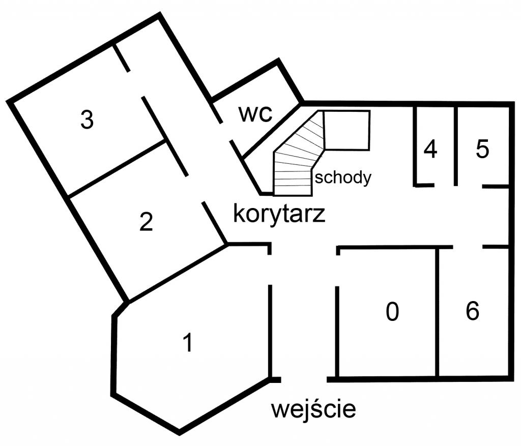 Plan pomieszczeń na parterze urzędu przy pl. Zwycięstwa 13