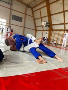 Walka podczas Mistrzostw Polski Combat Ju-Jitsu w formule Graplling Gi