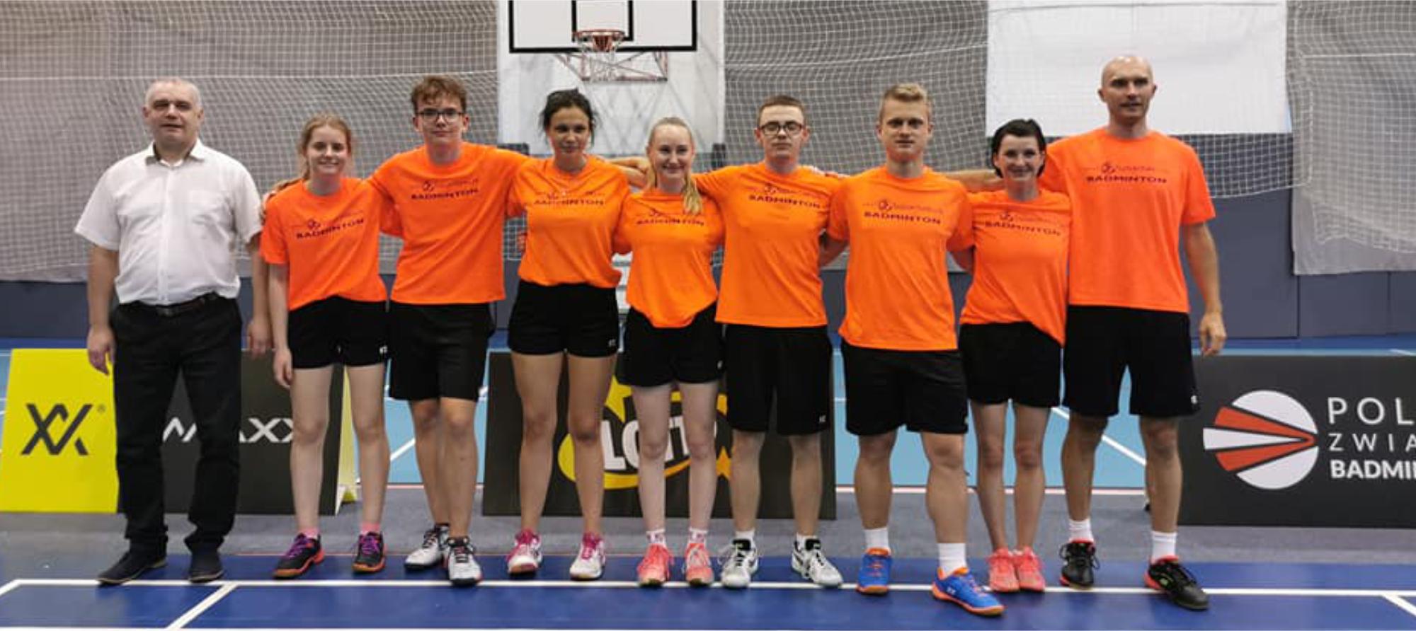Drużyna badmintonistów Spartakusa Niepołomice