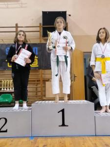 Aleksandra, zdobywczyni 2 miejsca podczas Pucharu Polski Combat Aikido