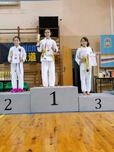 Eliza, zdobywczyni 3 miejsca podczas Pucharu Polski Combat Aikido
