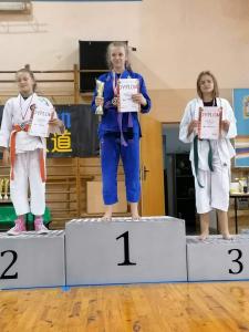 Nadia, zdobywczyni 1 miejsca podczas Pucharu Polski Combat Aikido