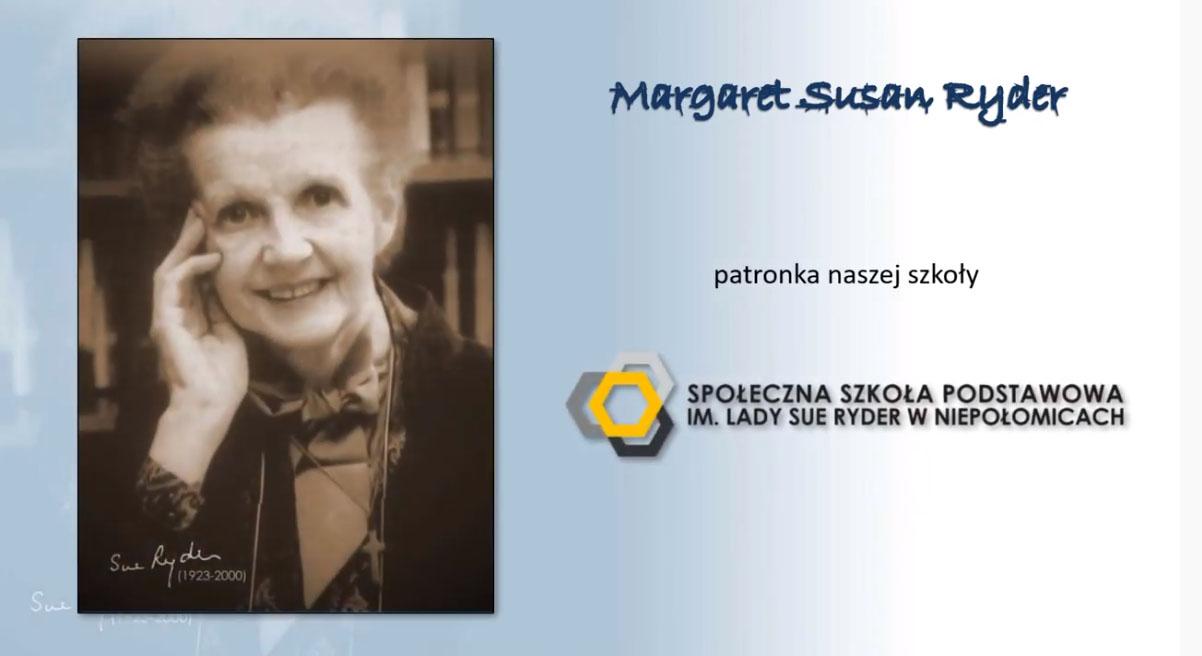 Strona slajdu z PowerPointa z nazwikiem Lady Sue Ryder i jej zdjęciem.