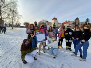 Wolontariusze niepołomickiej Wielkiej Orkiestry Świątecznej Pomocy