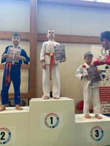 Tomek na drugim miejscu podium podczas II Liga Combat Ju-Jutsu