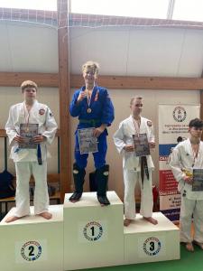 Bartek, zdobywaca 1 miejsca podczas II Liga Combat Ju-Jutsu