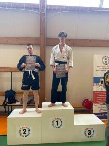 Michał, zdobywca 2 miejsca podczas II Liga Combat Ju-Jutsu