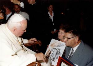Pielgrzymka małopolskich samorzadowców do papieża Jana Pawła II - 4 lipca 2000