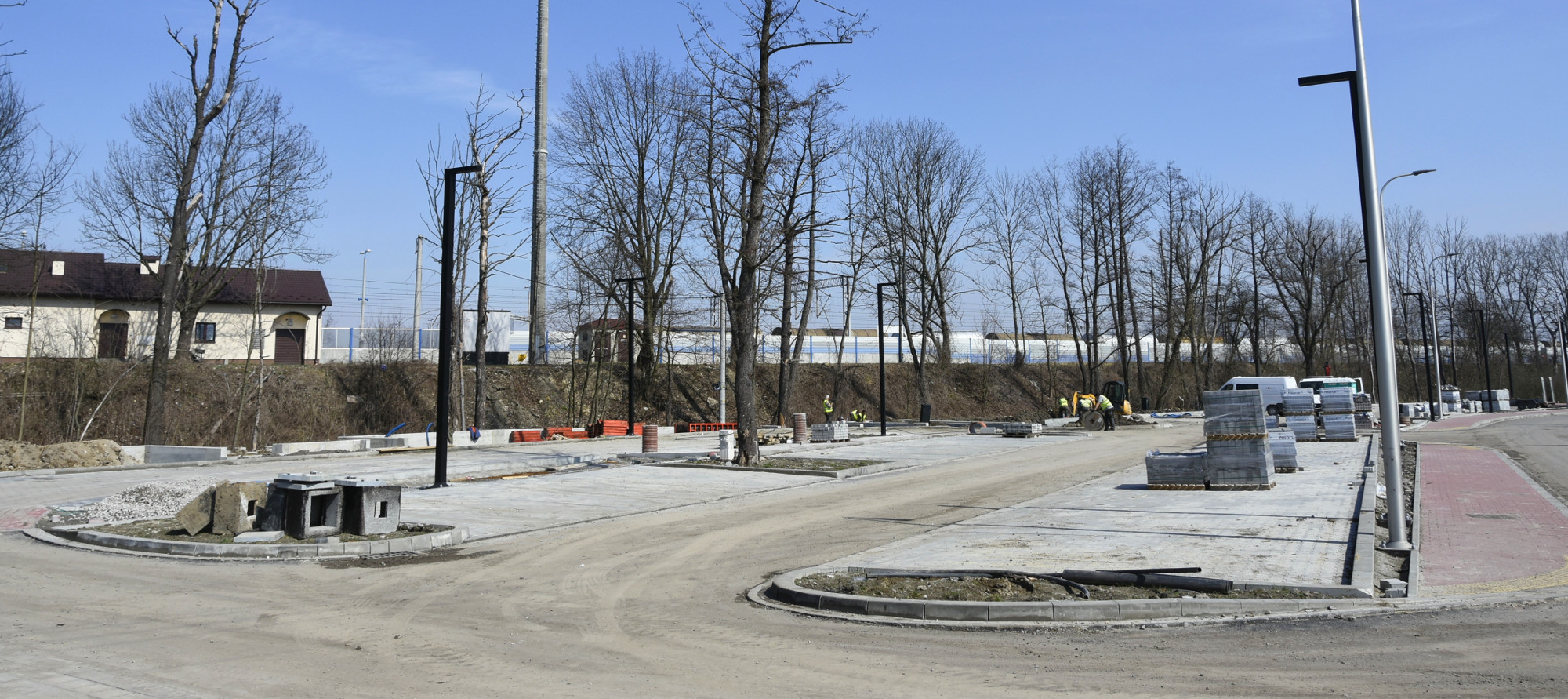 Budowany parking park&ride Podłęże Południe
