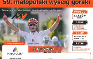Plakat Małopolskiego Wyścig Górskiego 2021