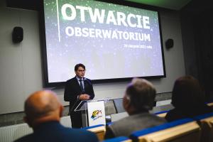 Przemówienie burmistrza Niepołomic podczas otwarcia MOA
