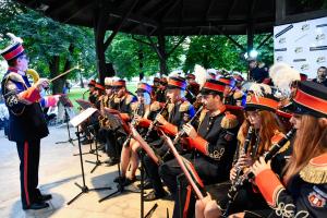 Grill u burmistrza - występ orkiestry Lira
