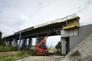 Plac budowy obwodnicy Podłęża