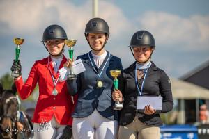 najlepsze pary konkursu w kat. ladies - brązowy medal Marta Wypiór i Captiana Luttinghof's Z