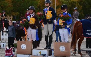 3 najlepsze pary zawodów na podium